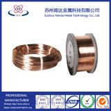 Fil d'aluminium plaqué de cuivre nu, la DPA sur le fil