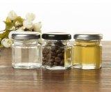 [1.5وز] ([45مل]) مرطبان سداسيّة زجاجيّة لأنّ تشويش, عسل, تابل