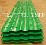Le Brésil la couleur d'acier galvanisé recouvert de feuille de profil Profil/tôle de toit