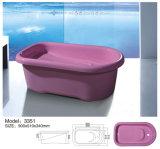 precio de fábrica de tamaño estándar de bañera bañera de patas para el bebé