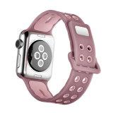De nouvelles couleurs respirante Bracelet en silicone pour Apple Watch