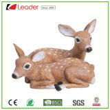 Polyresin exclusiva de los Ciervos y leonado Estatua de la decoración de jardín