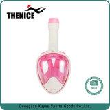 Venda por grosso de máscara de mergulho com snorkel Design Facial 180 Graus máscara de mergulho