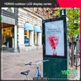 En forma de V frente a la luz de acero Billboard-exterior Publicidad Billboard Estructura