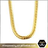 Caliente-Vendiendo doble tejido alrededor de Men′ Collar de cadena grueso de S