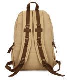 Хаки оптовая продажа Backpack студента мешка перемещения большой емкости мешка холстины отдыха сбор винограда мешка людей плеча двойника способа 1X