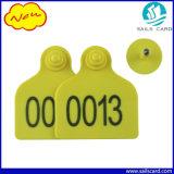 78*56mmのヒツジの識別のための黄色いプラスチックヒツジの耳札