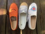 Segeltuch-Frauen-Schuh-Fußbekleidung GummiOutsole Seil-flache Ferse