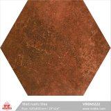 Foshan Material de construcción marrón mate rústico piso de cerámica porcelana seis esquinas mosaicos (VR6N5222, 520x600mm/20''x24'')