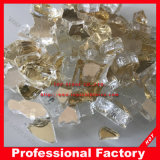 "1/4"" de oro Fireglass Casinao metálicos chimenea Fogata cristal"