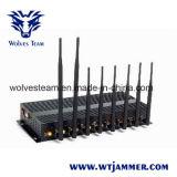 8 de krachtige Stoorzender van Cellphone van de Hoge Macht WiFi van de Antenne 3G/4G met de Draagbare Doos van het Aluminium