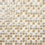 組合せカラー荒い正方形のガラスモザイク台所タイル