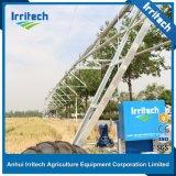 Sistema linear de cuatro ruedas de la máquina de la irrigación del movimiento de Rainger de Enigine del estilo del valle de la alimentación diesel de la zanja