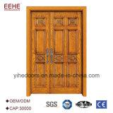 Дверь хорошего Teak цены деревянная главная конструирует главную дверь