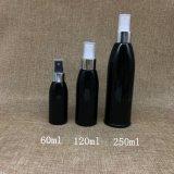 120ml svuotano la bottiglia cosmetica di plastica dello spruzzo dell'animale domestico nero per toner 4oz