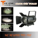 luz del punto de 100W LED Fresnel con grado del zoom 15 a 50