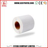 Liberación de papel térmico auto-adhesivo de la etiqueta de papel en bien material