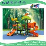 屋外の野菜屋根の子供のスライドの運動場装置(HG-9302)