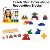 Blocchetti geometrici di figura di colore di legno educativo dei bambini di Montessori per i capretti