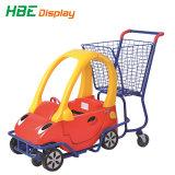 Het Boodschappenwagentje van de Jonge geitjes van de supermarkt met de Plastic Auto van het Stuk speelgoed