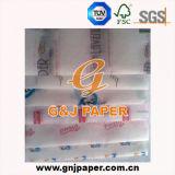 Завершение печати бумага ткани в мастерской