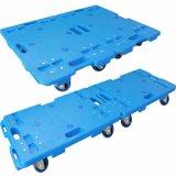 blaue Schildkröte-Laufkatze-industrielle Ladeplatten-Handkarre der Plattform-150kgs