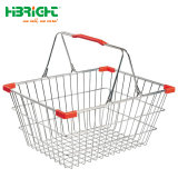 Les poignées de supermarchés haut de gamme Double Shopping Panier en fil métallique
