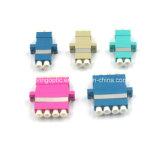 Optische Adapter van de Vezel van de Vierling van LC/Upc Om4 de Roze