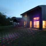 Luz laser solar, luz solar del jardín, luces integradas solares