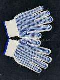 PVC поставил точки связанные перчатки безопасности хлопка работая с самым лучшим ценой
