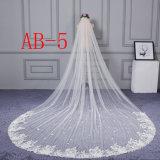 卸し売り安く長いベールの柔らかいテュルの花嫁のベールの結婚式のベール