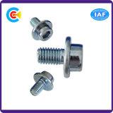 DIN/ANSI/BS/JIS Kohlenstoffstahl/aus rostfreiem Stahl nichtstandardisiertes sechseckiges mit runder Kopf-gerändelten Schrauben