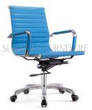 Moderner mittlerer rückseitiges Leder-Schwenker-Computer Eames Büro-Stuhl (SZ-OC027)