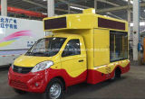 Camion de petite taille du mobile DEL de Foton avec le panneau-réclame de défilement