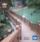 Grãos de madeira Material Verde WPC Antiderrapagem Flooring
