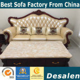 Neue Ankunfts-königliches Art-Leder-Sofa für Hauptmöbel (196#)