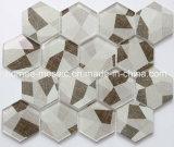 Impresión Wholesales mosaico de vidrio hexagonal