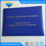 La lámina de estampado Logotipo personalizado Diploma de Graduación de la carpeta grado titular