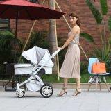 Wandelwagen 2 van de Baby van de Luifel van het Leer van de Aankomst van de fabriek Online Nieuwe Beste in 1