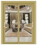 Aluminio de alta calidad personalizada puerta corrediza de aluminio, Puerta de acordeón, Patio de aluminio