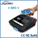 Position androïde de panneau de contact avec le coup de carte de lecteur et de côté de NFC