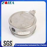Manómetro 0-600bar enchido líquido 0-9000psi de Wika 316L Ss dos invernos com exatidão 1.0% IP65