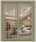 Puerta corrediza de aluminio color champagne triple de la puerta de aluminio correderas