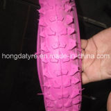 El cochecillo de bebé de la manera embroma color del color de rosa del neumático de la bici
