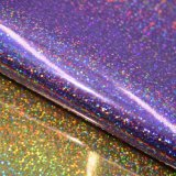 Обувная кожа мешка PU поверхностного яркия блеска зеркала украшенный лиственным орнаментом искусственная