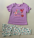 子供の摩耗のBb401の夏の女の赤ちゃんのパジャマの子供のスーツ