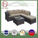 熱い販売のKdの余暇のテラスの庭の屋外の柳細工の藤のソファー(BL-9504)