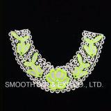 Indumento del collare del merletto di Applique ricamato fiore staccabile all'ingrosso della donna di colore