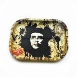 Bandeja del balanceo del cáñamo del cigarrillo del tabaco de Weed del metal de la trama de Bob Marley