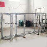 Vidro interior de alumínio de qualidade Bifold Portas porta rebatível